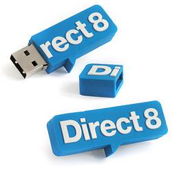 clé USB publicitaire SUR MESURE 2D 1