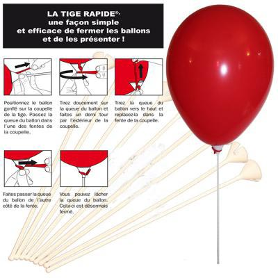 Tiges pour ballons gonflables personnalisés